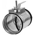 Воздушный клапан для круглых воздуховодов КВК 125М